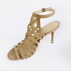 Michael Kors Tan Shoes Heeled Leather Sandals NEW